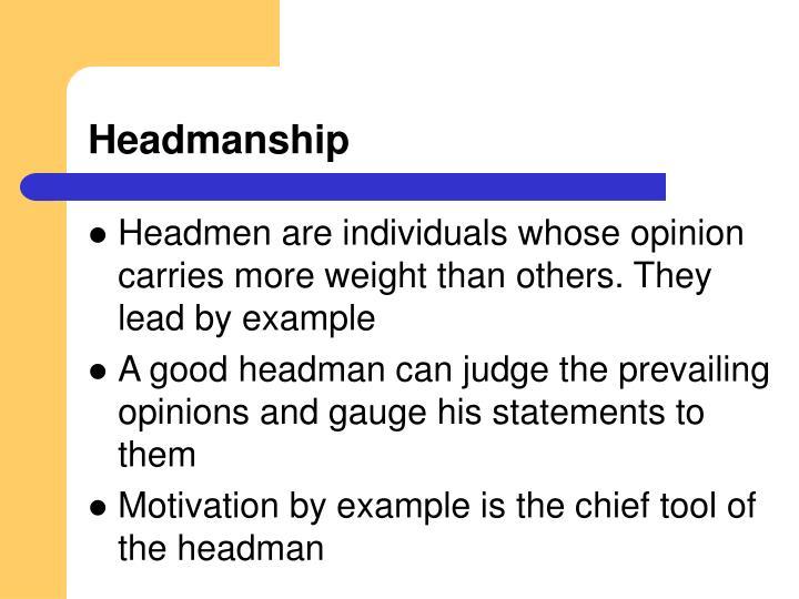 Headmanship
