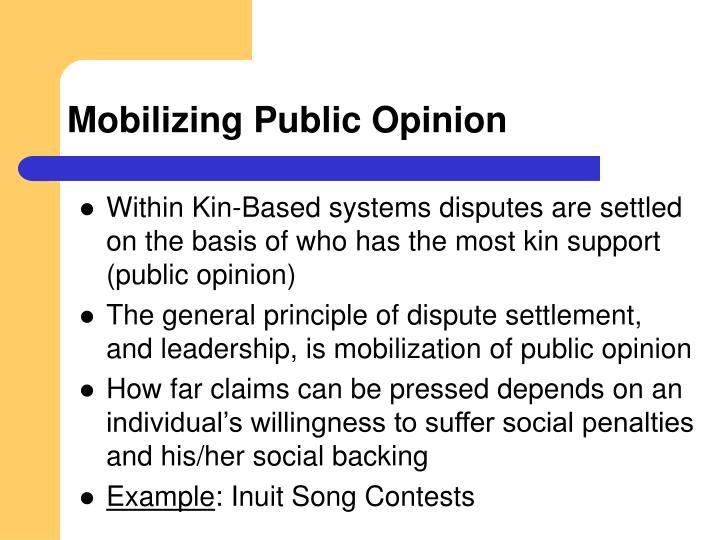 Mobilizing Public Opinion