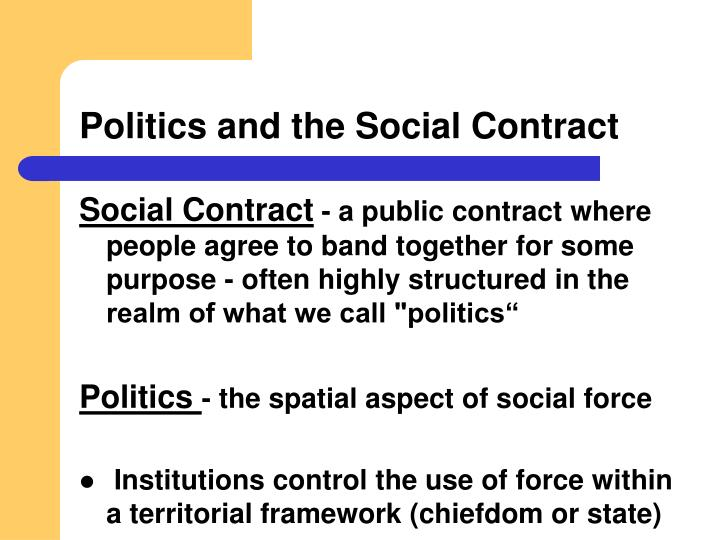 Politics and the Social Contract