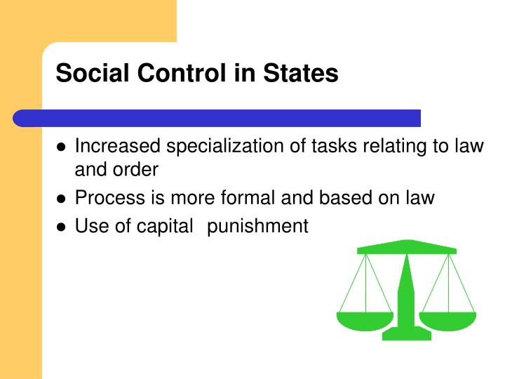 Social Control in States