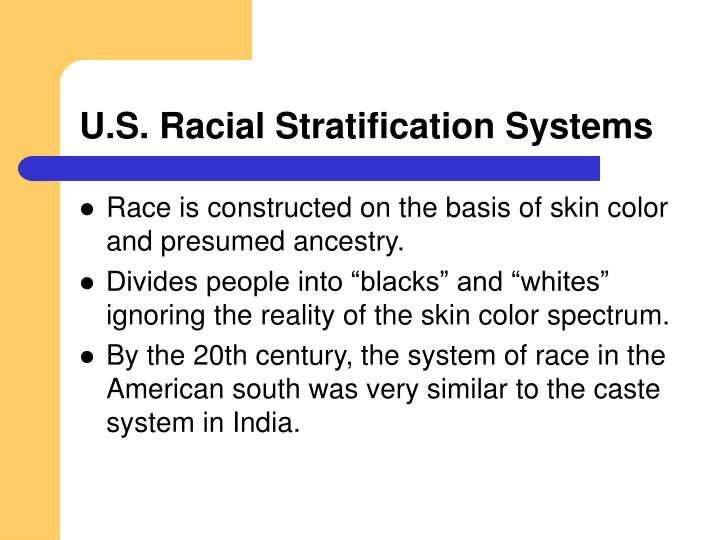 U.S. Racial Stratification Systems