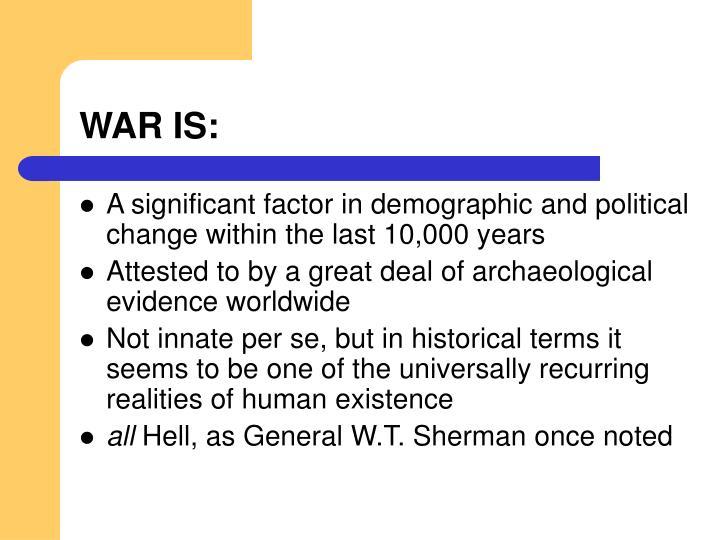 WAR IS: