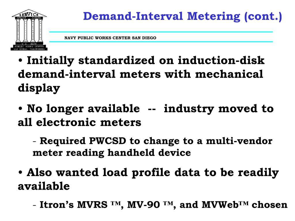 Demand-Interval Metering (cont.)