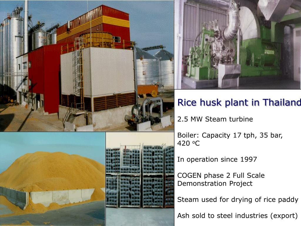 Rice husk plant in Thailand