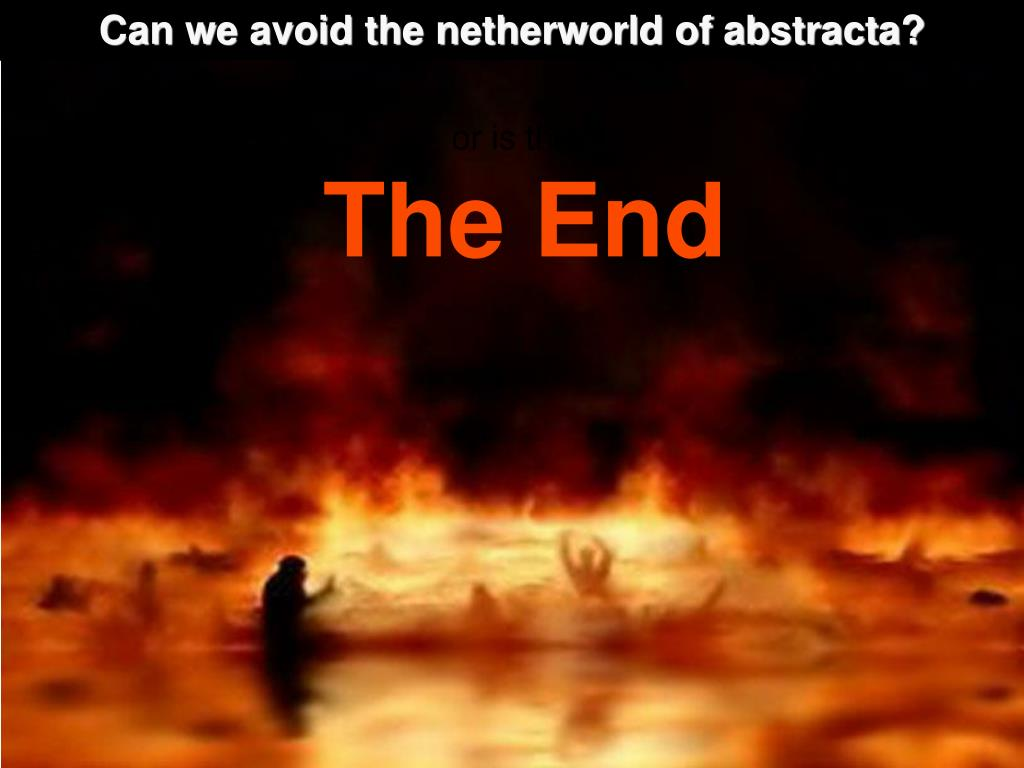 Can we avoid the netherworld of abstracta?