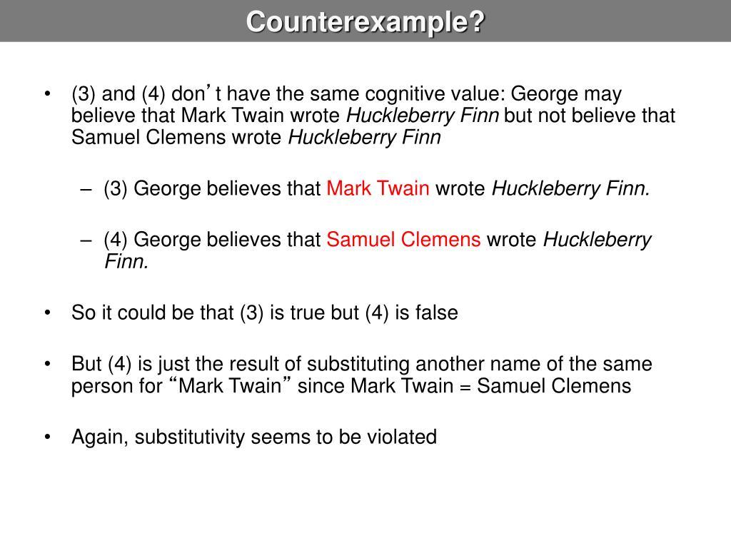 Counterexample?