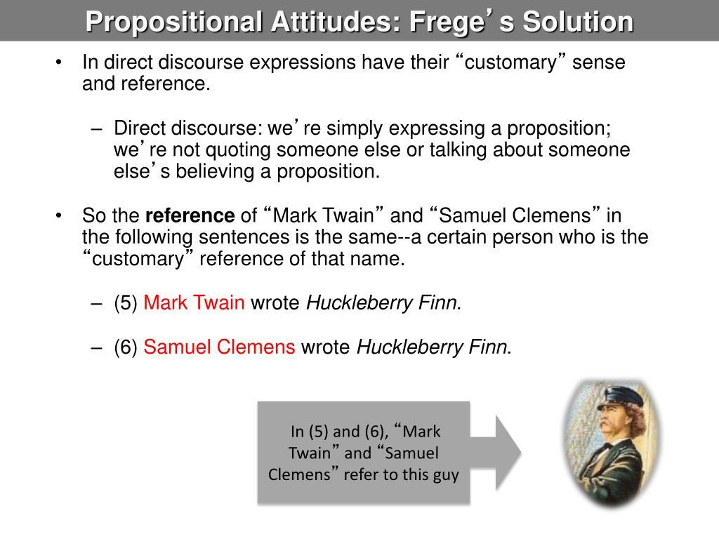 Propositional Attitudes: Frege