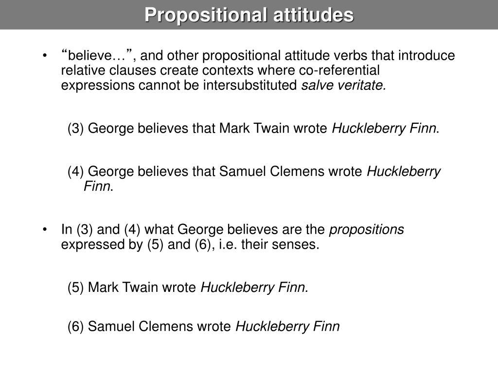 Propositional attitudes