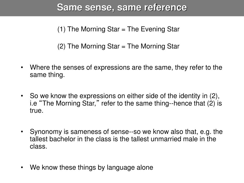 Same sense, same reference