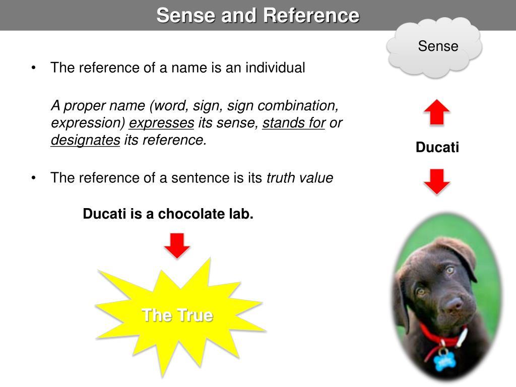 Sense and Reference