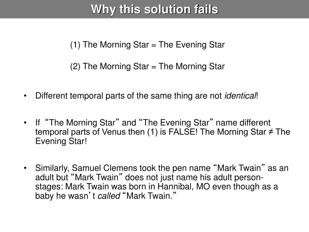 Why this solution fails