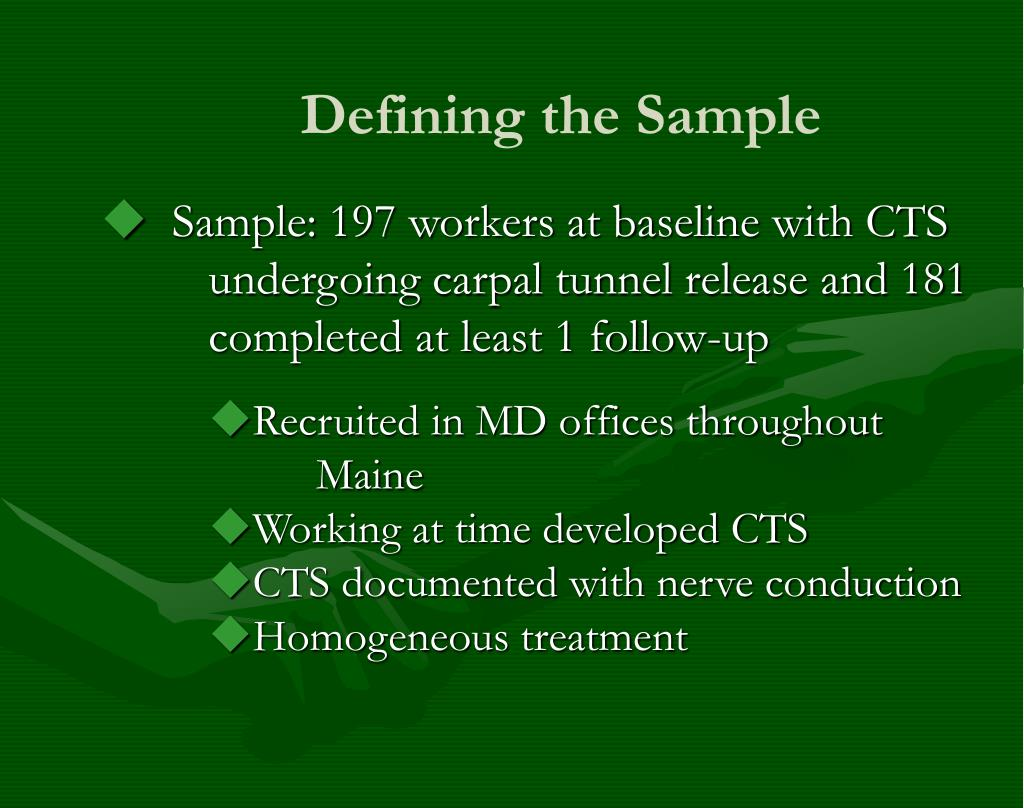 Defining the Sample