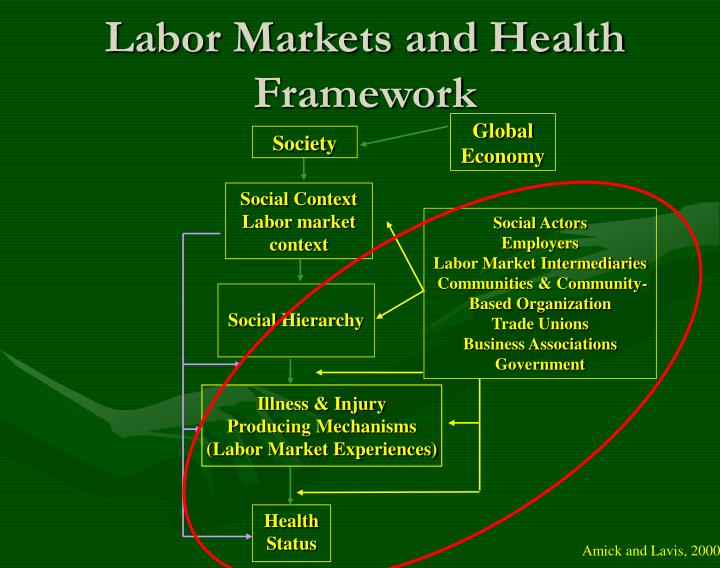 Labor markets and health framework