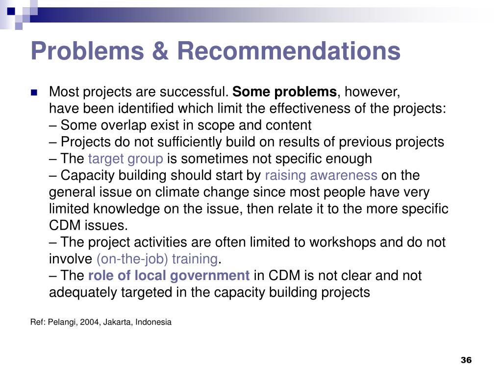 Problems & Recommendations