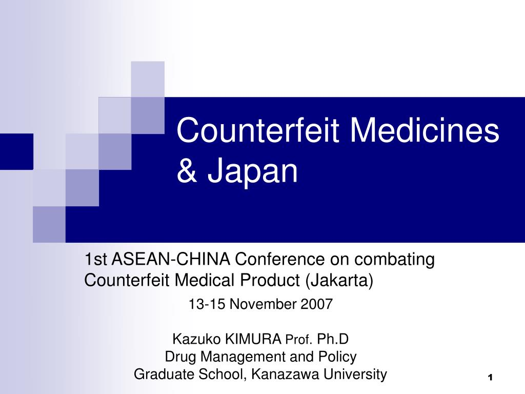 counterfeit medicines japan