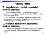 q1 legislation to combat counterfeit medical products