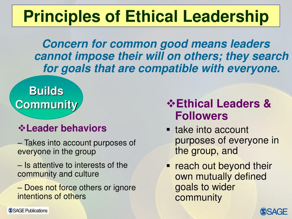 Principles of Ethical Leadership