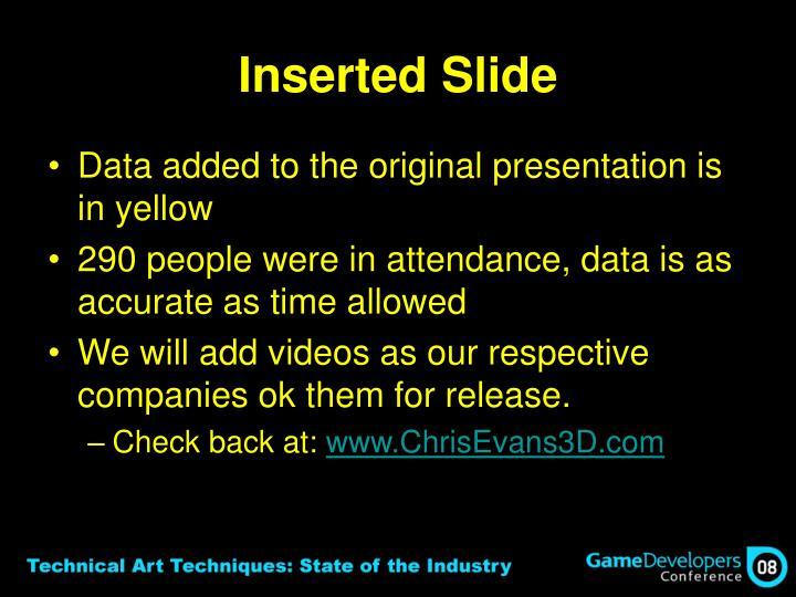Inserted Slide
