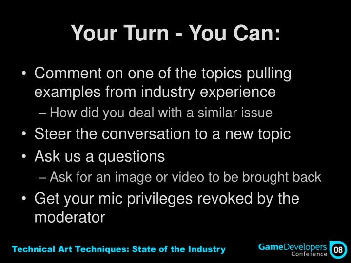 Your Turn - You Can: