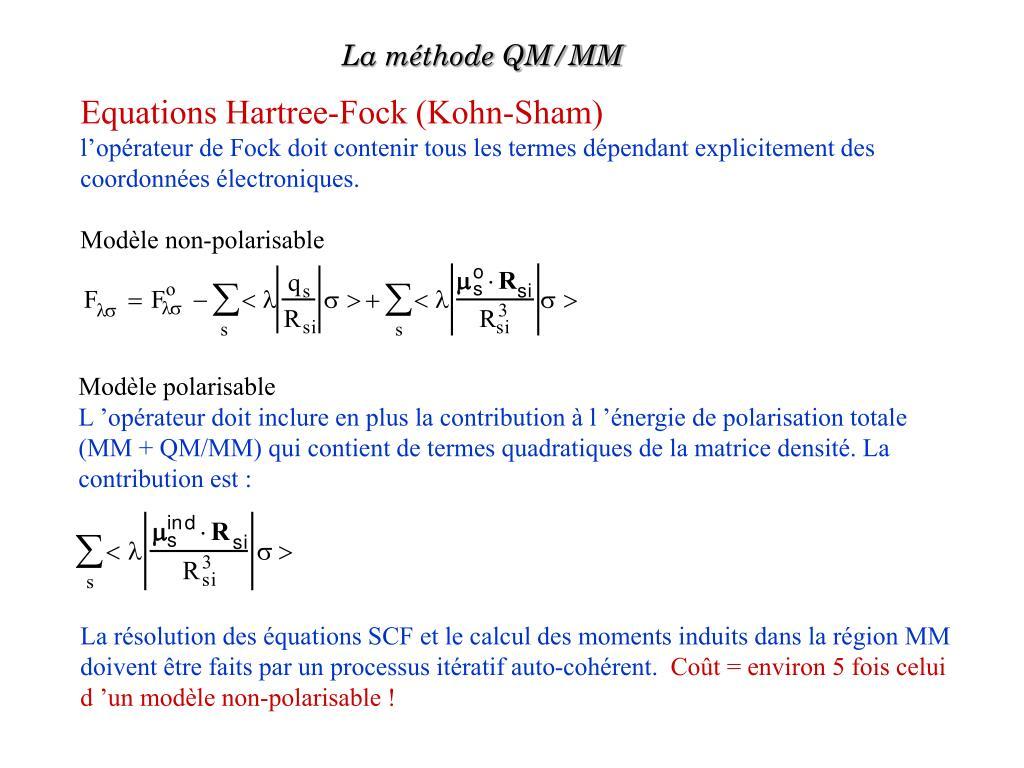 La méthode QM/MM