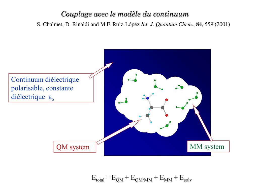 Continuum diélectrique polarisable, constante diélectrique