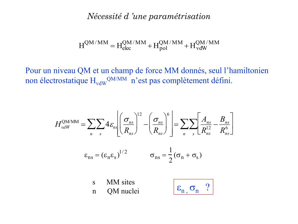 Nécessité d'une paramétrisation