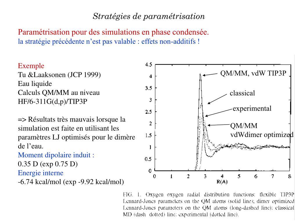 QM/MM, vdW TIP3P