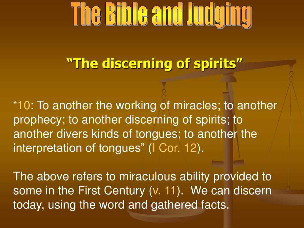 The Bible and Judging