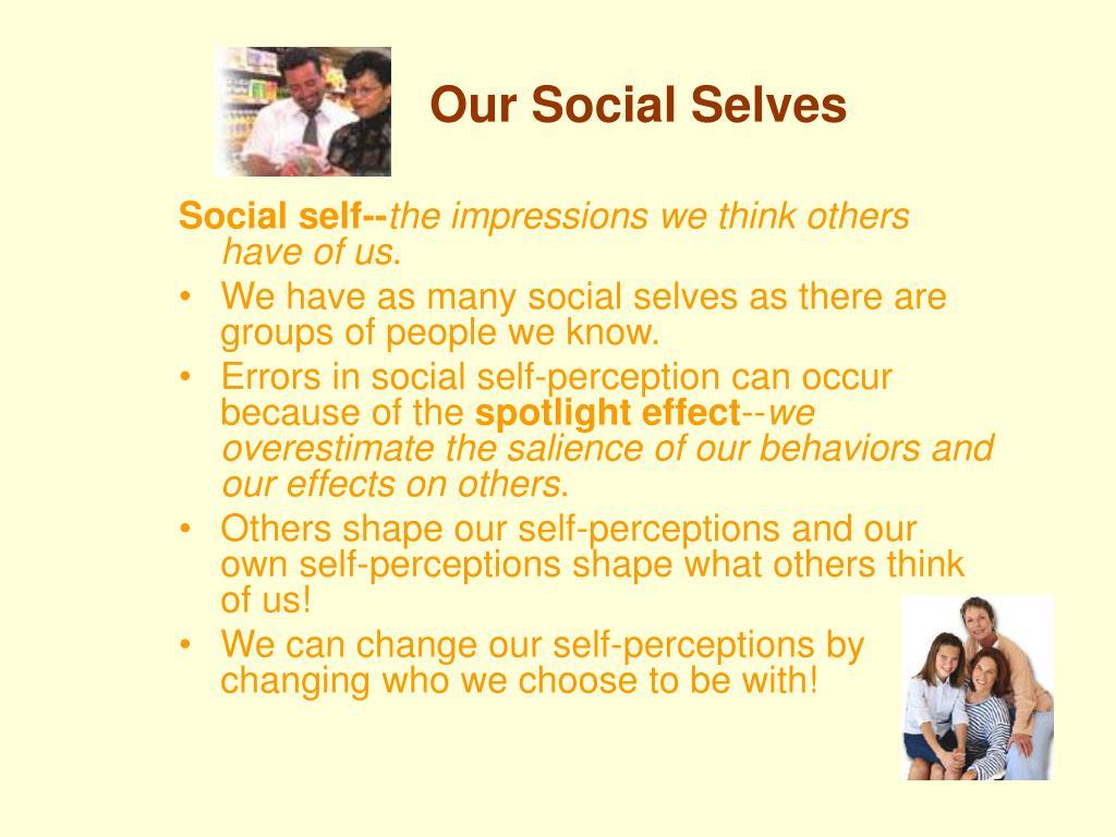 Our Social Selves