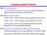 common anomaly patterns