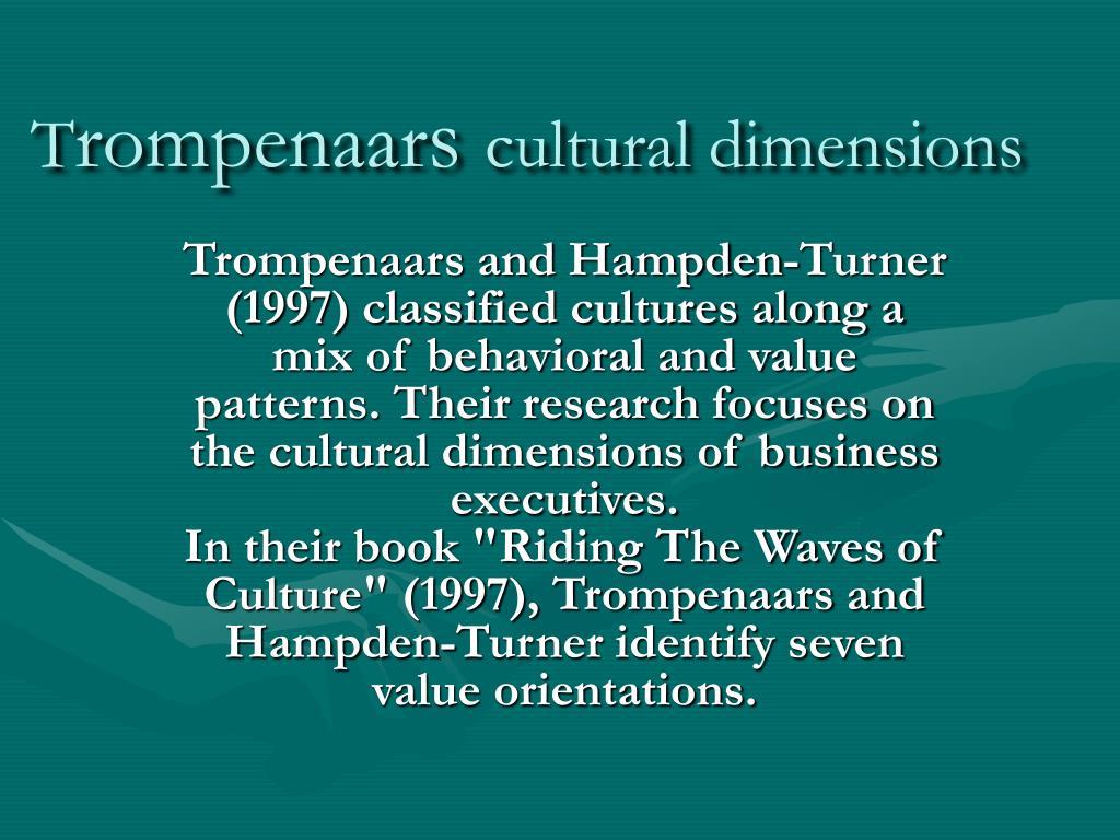 t rompenaar s cultural dimensions