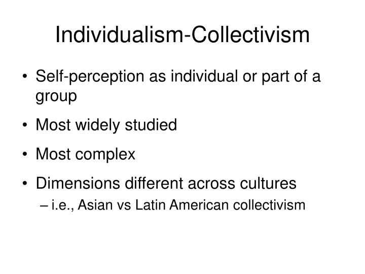 Individualism collectivism