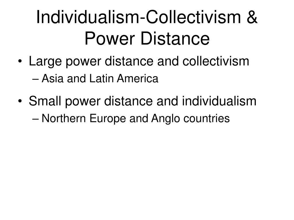 Individualism-Collectivism & Power Distance