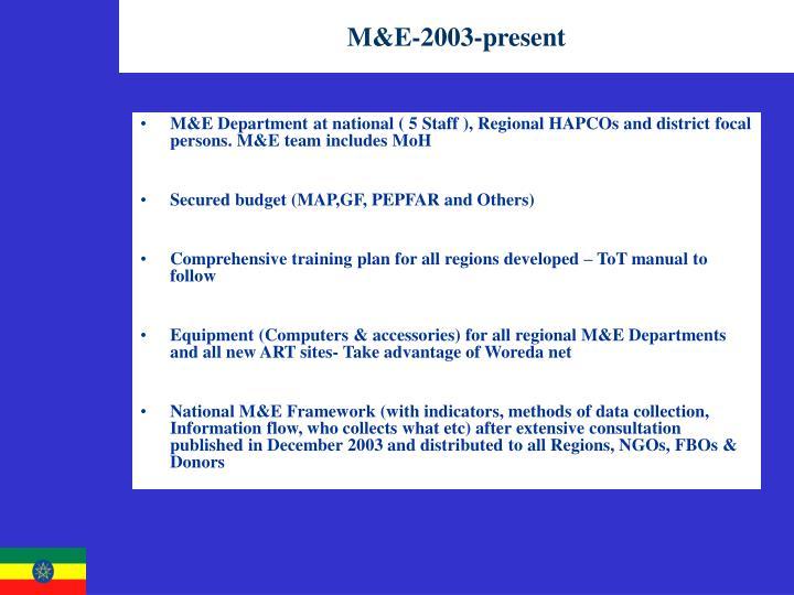 M&E-2003-present