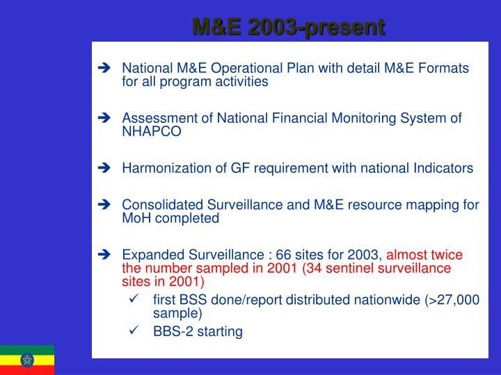 M&E 2003-present