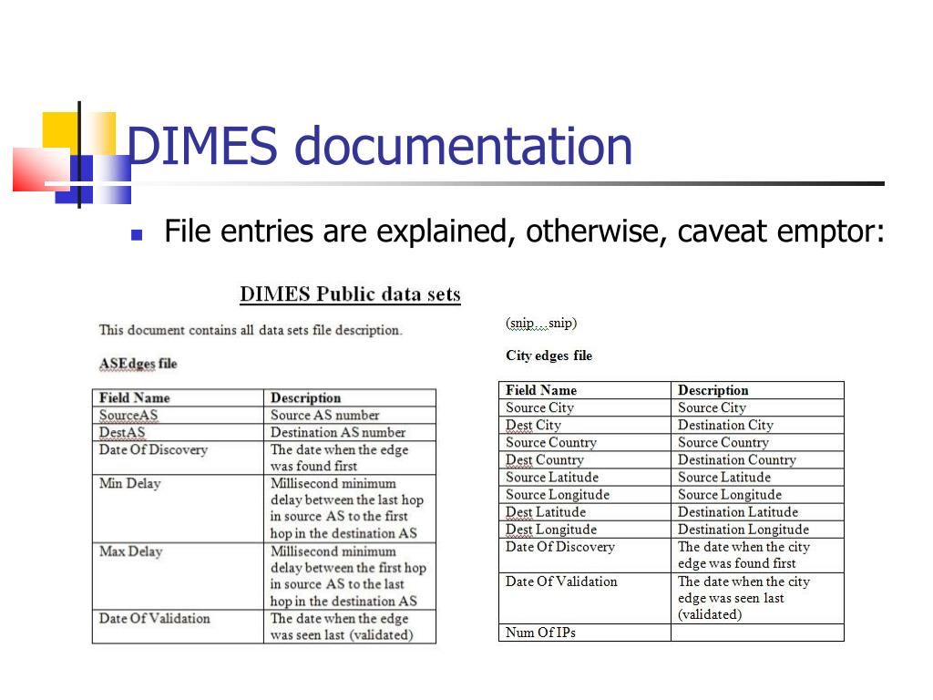 DIMES documentation