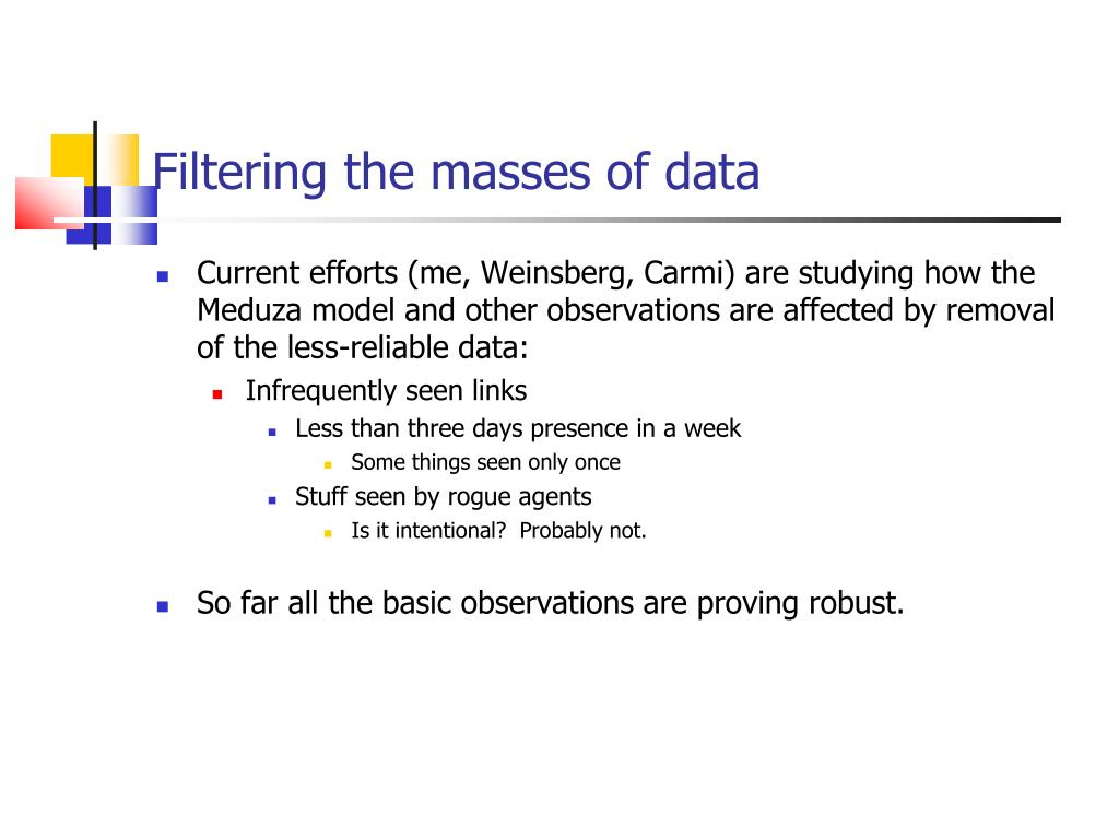 Filtering the masses of data