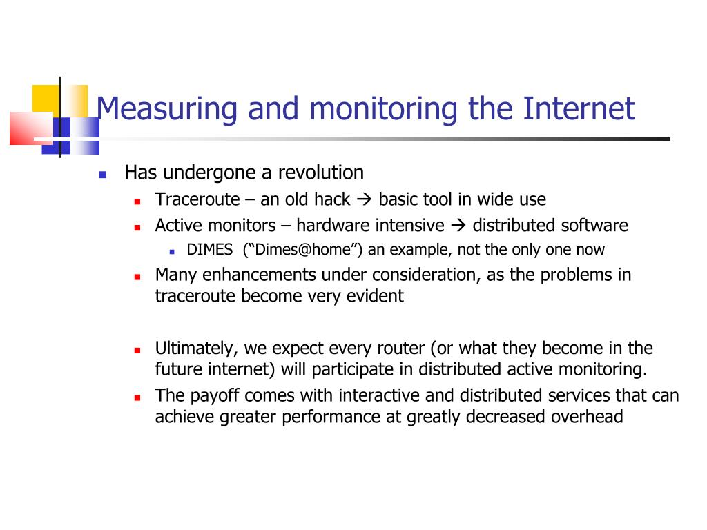Measuring and monitoring the Internet