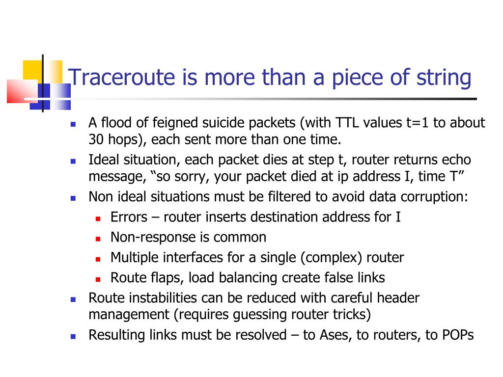 Traceroute is more than a piece of string