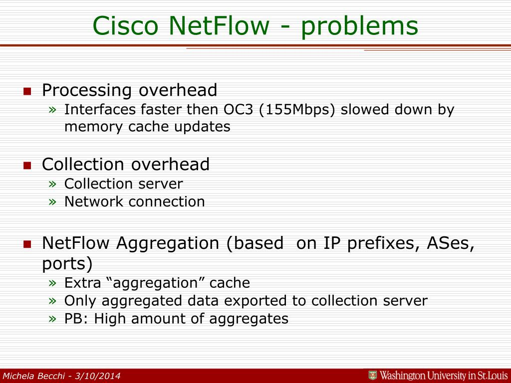 Cisco NetFlow - problems