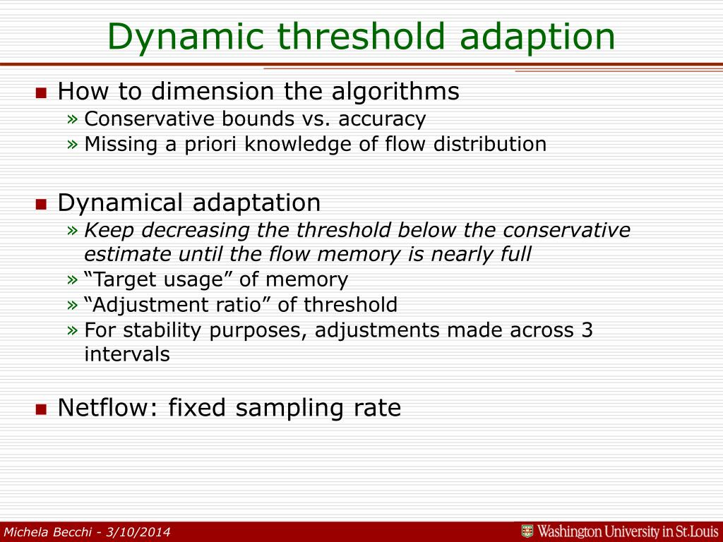 Dynamic threshold adaption