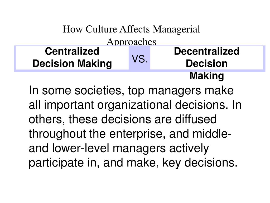 how culture affects managers Culture matters because it affects the innovation process  idea management:  openness to ideas both internally and externally is indicative of companies that.