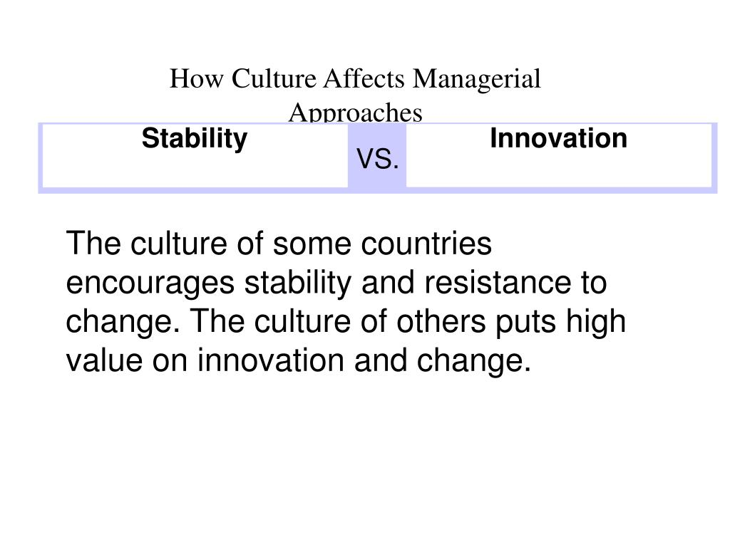 How Culture Affects Managerial Approaches