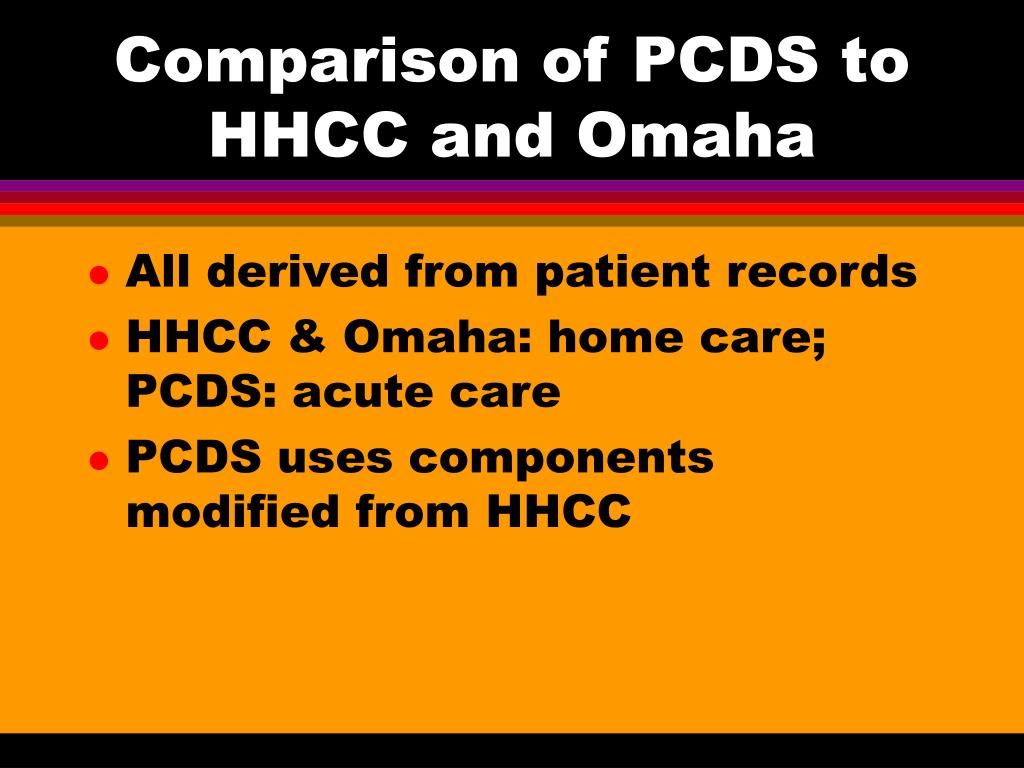 Comparison of PCDS to HHCC and Omaha