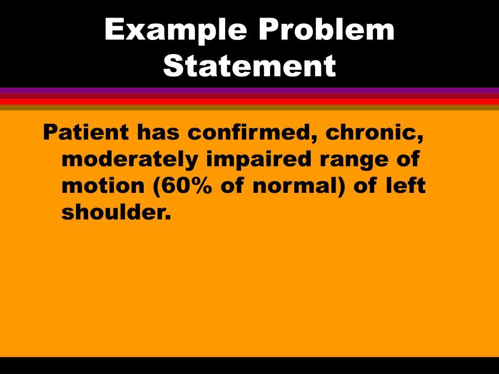 Example Problem Statement