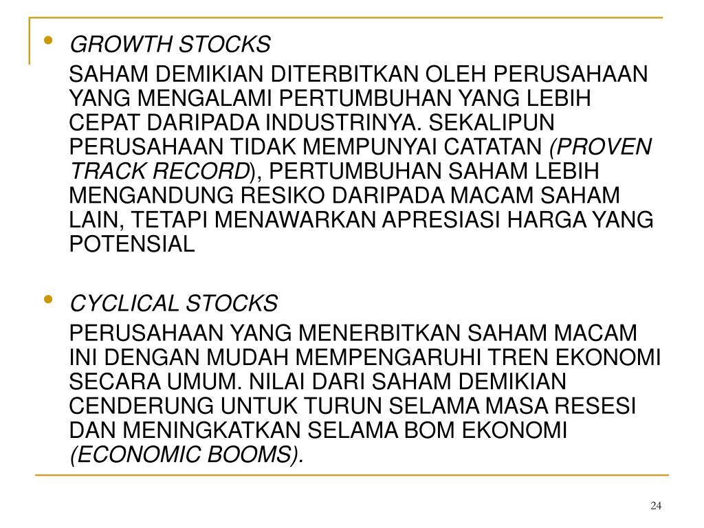 GROWTH STOCKS