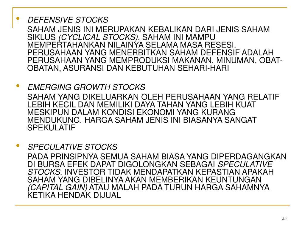 DEFENSIVE STOCKS