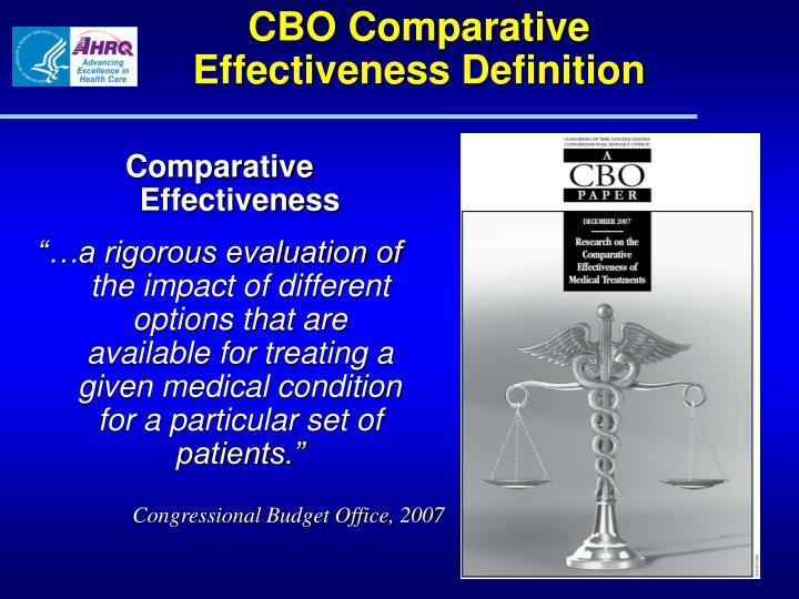 CBO Comparative Effectiveness Definition