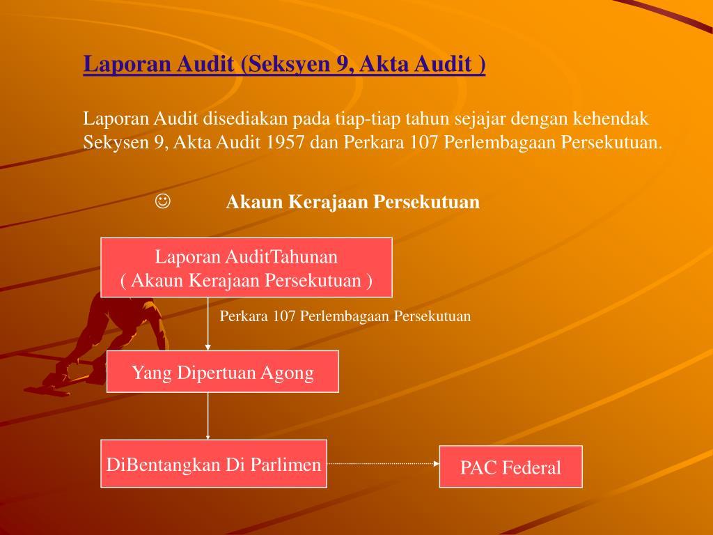 Laporan Audit (Seksyen 9, Akta Audit )