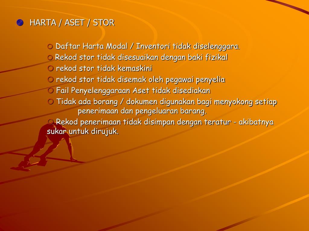 HARTA / ASET / STOR